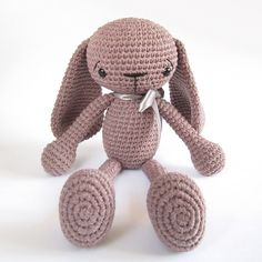 Ravelry: Long-legged bunny with floppy ears - Crocheted children's toy - Amigurumi stuffed animal - Photo tutorial pattern by Kristi Tullus