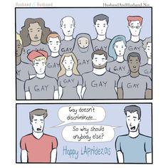 My Husband went to La Pride.  #gay #gayrights #lgbt #lgbtrights #equalityforall  #equality #husbandandhusband #jonathanlferrara #aaronferrara #samesexmarriage #gaycouple #lapride #gaypride #gaycomic #gaywebcomic