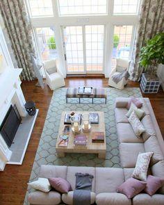 #living #room #view #from #above #full #open #space For more similar pictures visit: http://diybazaar.ro/camere-vazute-de-sus-perspectiva-in-amenajari-interioare/