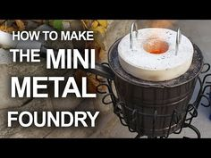 "The ""King of Random"", as Grant Thompson (previously) is known, recently shared a video on how to make a simple and inexpensive mini metal foundry for melting pop cans and casting aluminum. Casting Aluminum, Metal Casting, Ant Hill Casting, Sand Casting, Metal Projects, Metal Crafts, Diy Projects, Handyman Projects, Pallet Projects"