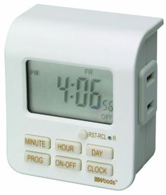Woods 50008 Indoor 7-Day Digital Outlet Timer Woods http://www.amazon.com/dp/B006LYHEEY/ref=cm_sw_r_pi_dp_SBNewb13P8PM6