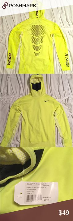 NWT Nike very rare Pro Combat runners hoodie. The ultimate runners pullover hoodie with mouth grate to keep the heat in on the cold training days. Never been worn!! Size Medium, designed to run tight. Nike Shirts Sweatshirts & Hoodies