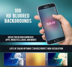 100 HD Blurred Backgrounds