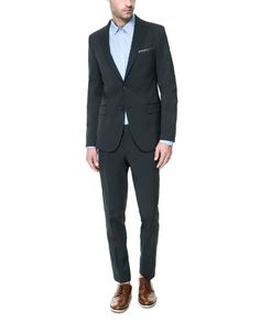 BLUE STRIPED SUIT - Suits - Man - New collection | ZARA United States
