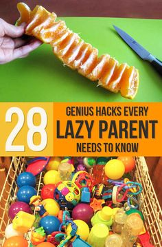 This is hilarious! Laugh until I cried, but works! 28 Genius Hacks Every Lazy Parent Needs To Know :)