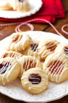 Apricot Raspberry Thumbprint Cookies