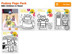 Pudsey Page Pack Augmented Reality Coloring Book Pages Quivervision