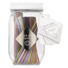 Pop our We Live Like This Jar of Happy on your desk and take your pick from positive mantras, wishes, and suggestions! Mix in some adventure!  Live happy!
