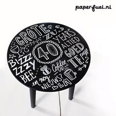 So much fun to draw this table! #lettering #handmade  #chalkboard #typography  #paperfuel
