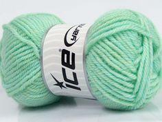 Machine washable. Lay flat to dry Fiber Content 80% SuperwashVirgin Wool 20% Acrylic Mint Green Brand Ice Yarns fnt2-43423