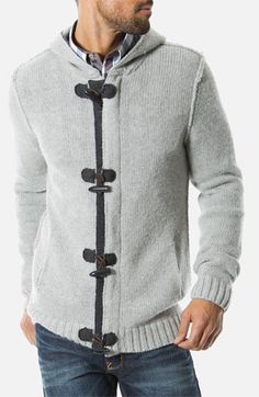 7 Diamonds 'Cortina' Hooded Cardigan | Nordstrom--- small. I'd like a cardigan with toggles, not sure about the colors on this one.