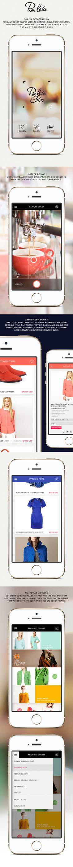 Rue La La Color Mobile App (Concept) on Behance