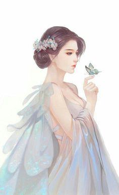 Fashion Drawing Watercolor Inspiration Ideas For 2019 Anime Art Girl, Manga Girl, Fantasy Kunst, Fantasy Art, Character Inspiration, Character Art, Chibi Manga, Art Sketches, Art Drawings