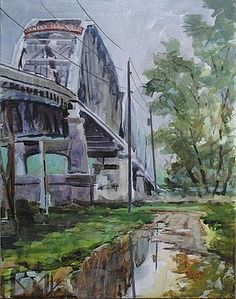 Fine Art America  C2 B7 Illinois  C2 B7 Art Studios  C2 B7 Welcome To Illinois By Spencer Meagher Bridge Painting This Old House New Harmony
