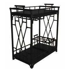 Black Worth Ratten Bar Cart