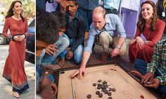 Kate dresses down to meet India's street kids: Duke and Duchess of Cambridge join in games at New Delhi railway station where thousands of children arrive alone each day | Daily Mail Online