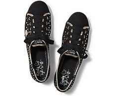 KEDS TAYLOR SWIFT'S RALLY METALLIC DOT IN BLACK, UK5/38