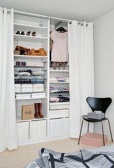 Cute make shift closet