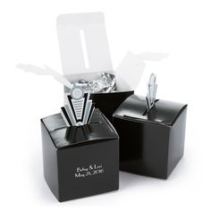 Personalized Art Deco Pop-Up Favor Box (Pack of 25)