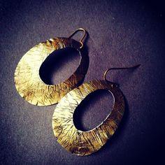 Brass earrings by Zona Sherman Designs