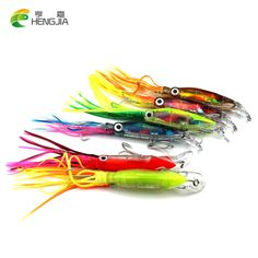 HENGJIA 300pc 14cm 40g plastic squid jig octopus fishing lures bass wobbler carp trout perch fishing baits pesca fishing tackle