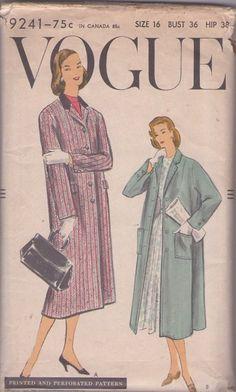 """vogue 9241 size 36"""", 1950's"""
