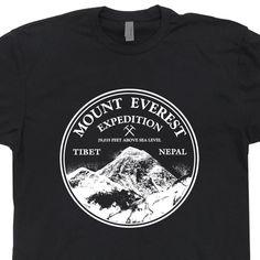 Mount Everest Expedition T Shirt Vintage Soft Mountain Climbing Shirts Ski Snowboard T Shirt Cool T Shirt by Shirtmandude on Etsy https://www.etsy.com/listing/110844914/mount-everest-expedition-t-shirt-vintage