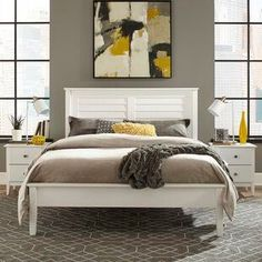 Discover the best coastal bedroom furniture sets, which includes matching coastal beds, beach dressers, coastal headboards, beach nightstands, and more. Solid Wood Platform Bed, Platform Bed Frame, Upholstered Platform Bed, Platform Bedroom, Bedroom Furniture Sets, Bed Furniture, Furniture Deals, Furniture Outlet, Online Furniture