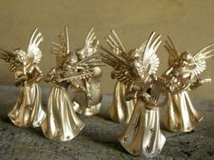 Vintage Angel Musicians Christmas by VintageAccentsStudio on Etsy