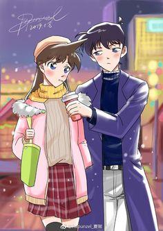 Ran And Shinichi, Kudo Shinichi, Gosho Aoyama, Detective Conan Wallpapers, Anime Girl Dress, Detektif Conan, Magic Kaito, Case Closed, Manga Artist