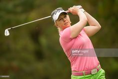 Morgan Pressel of the United States plays a tee shot at the third hole during the third round of the 2014 Lorena Ochoa Invitational presented by Banamex at Club de Golf Mexico on November 15, 2014 in Mexico City, Mexico.