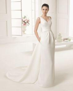 40 vestidos de novias para bajitas, tendencias 2016. ¡Alarga tu figura! Image: 13