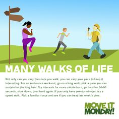 Exercise can be as simple as going for a walk! #MoveItMonday