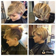bob with hidden undercut on side and back (eliminates neck hair mullet) | How Do It Info