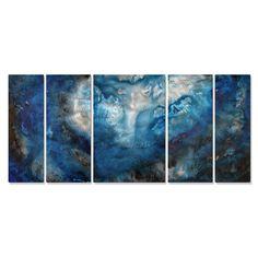Megan Duncanson 'Moon Lake' Metal Wall Art | Overstock.com Shopping - The Best Deals on Metal Art
