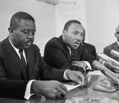 The Reverends Ralph Abernathy and Martin Luther King