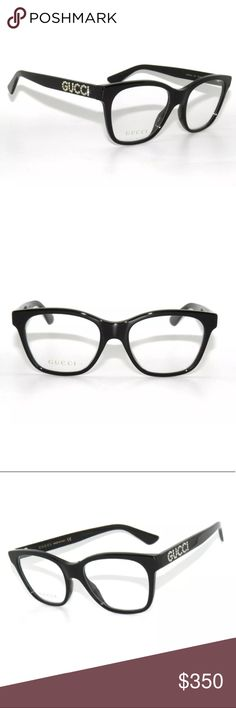 2fc67fb221a Gucci Eyeglasses 0420O black Frame Brand new with clear lens Authentic  Comes with Gucci case