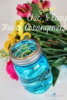 She's {kinda} Crafty: Chic and Easy Floral Arrangements