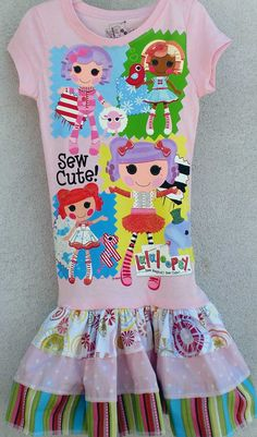 Lalaloopsy Dress Kemp Kemp Hellein, we should make the girls matching dresses :) Lalaloopsy Mini, Daddys Princess, Twirl Skirt, Gifts For Family, Sewing Projects, Kids Outfits, Kids Fashion, Crafts For Kids, Birthday Parties