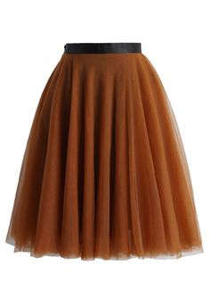 Amore Mesh Tulle Skirt in Amber - New Arrivals - Retro, Indie and Unique Fashion