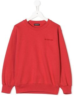 1e02437255a Balenciaga Kids Logo Embroidered Sweatshirt - Farfetch