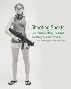 I was a cheerleader all through school, but I would've loved being involved in shooting back then. Glad to know that school rifle teams are coming back.