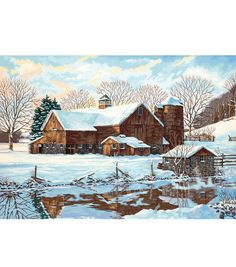 Dimensions Paint By Number Kit Winter Reflections