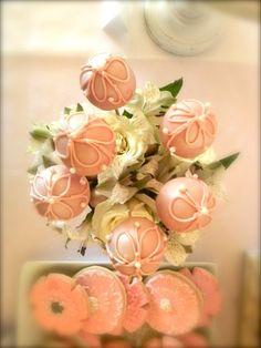 Gorgeous cake pops - vintage pink