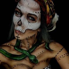 """789 Likes, 6 Comments - Dupe magazine™ (@dupemag) on Instagram: """"Voodoo makeup from @katiunddiepuderquaste #voodoo #voodoowitch #voodoomakeup #witch #witchmakeup…"""""""