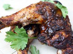 Smoky, spicy, salty grilled chicken get a sweet, sticky glaze in the form of caramelized mango chutney.