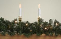 "9' x 14"""" Pre-Lit Canadian Pine Artificial Christmas Garland - Clear Lights"