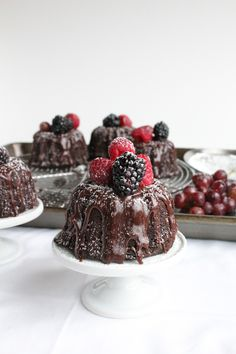 Mini Chocolate Bundt Cakes. . . Perfection in a bundt cake. - Hip Foodie Mom