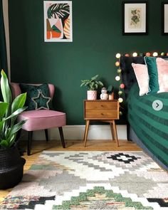 Filling a home (or a room or two) with dark paint colors isn't easy, but the s. Filling a home (or a room or two) with dark paint colors isn't easy, but the striking, moody final look may make the risk worth it—and with these Dark Paint Colors, Bedroom Paint Colors, Bedroom Color Schemes, Bedroom Green, Forest Green Bedrooms, Emerald Green Bedrooms, Emerald Bedroom, Jewel Tone Bedroom, Trendy Bedroom
