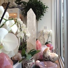 The shop looking rosy and blissful - remember a stone can bring so much joy to your life and to those you love x